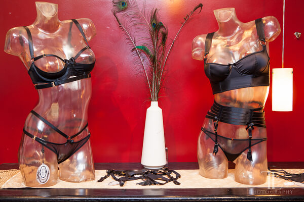 A display of Bordelle lingerie at the Oh Baby boutique