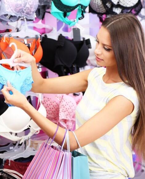1 - shopping girl looking at bra