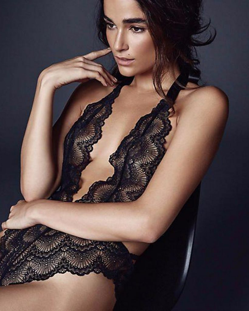 Journelle black lace teddy