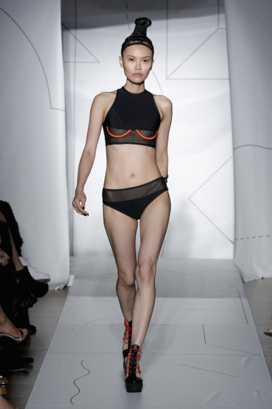 Chromat Mesh Underbust Top & Mesh Band bottom Spring/Summer 2015