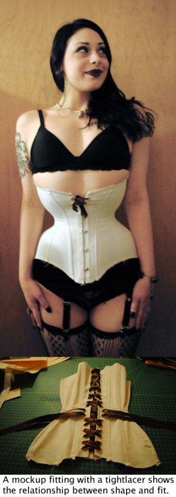 Corsets that do not cover breasts