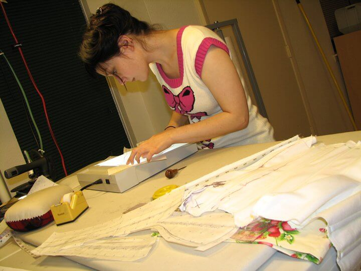 Studying with Alexis Black, creator of the Learn to Make Corsets Like a Pro Facebook group.