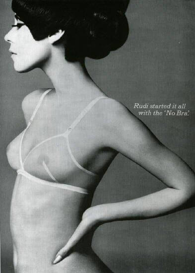 1960s Rudi Gernreich advertisement, via http://agnautacouture.com/2012/11/25/rudi-gernreich-misunderstood-fashion-prophet/