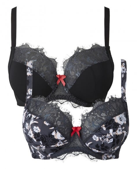 2 Pack Wired Bras by Simply Be  36C to 50J (US sizing)