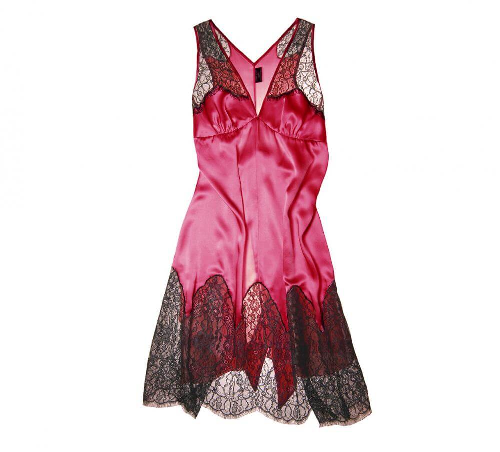 Layla L'obatti Specimens of Seduction Red Deco Lace Chemise