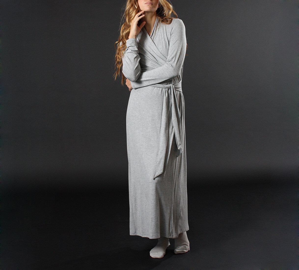 $95 http://www.btslingerie.com/luxury-knit-long-robe-heather-grey-matchplay.html?a_aid=4d9660cc79457&a_bid=1f19a139
