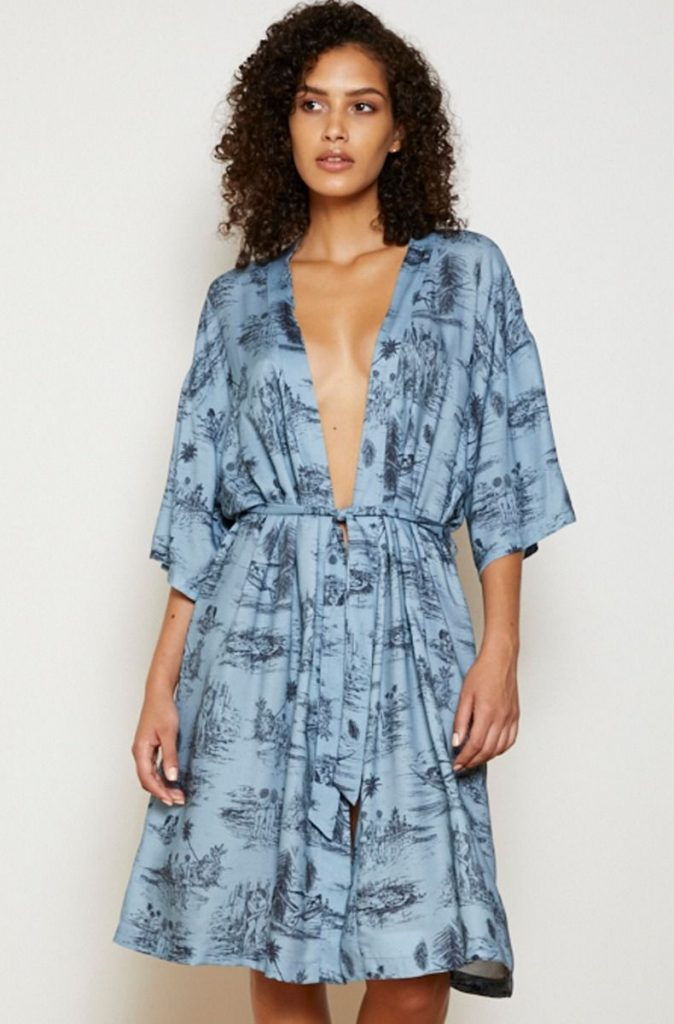 only hearts 'lazy mayzie' robe featuring erotic toile print