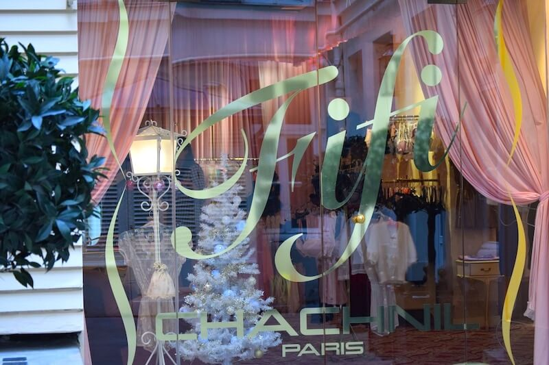 Display window at the Fifi Chachnil boutique