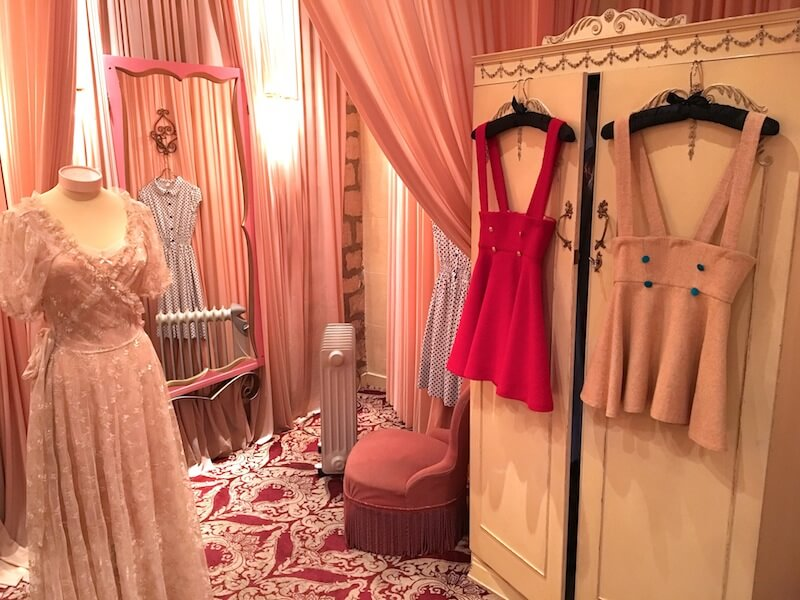 A glimpse into the dressing rooms at Fifi Chachnil