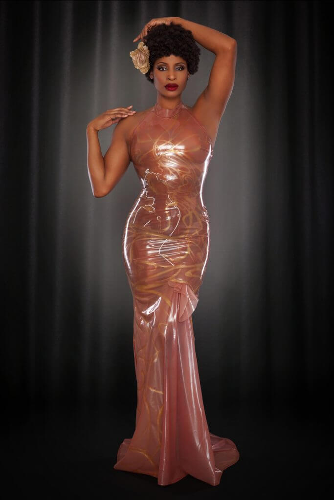 Lingerie Wishlist: Kiss Me Deadly Rose Noir Mucha Latex Gown