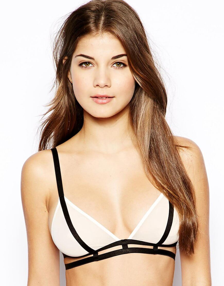 3725f872c0 Free People Strappy Back Bra   20. ASOS Sienna Strappy Mesh Triangle Bra