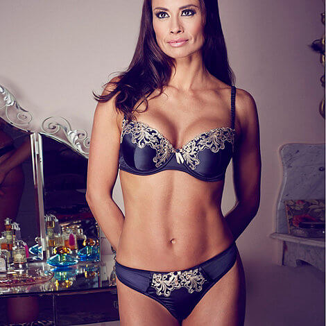 Adore Me by Ultimo Black embroidered trim balcony bra - £22.50 (approximately $36.85)