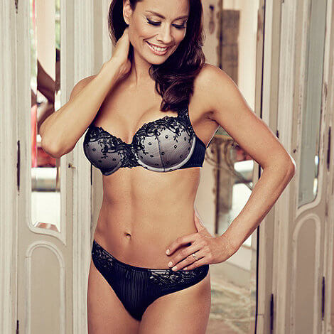 Adore Moi by Ultimo Black 'Fern' balcony bra - £22.50 ($36.85)