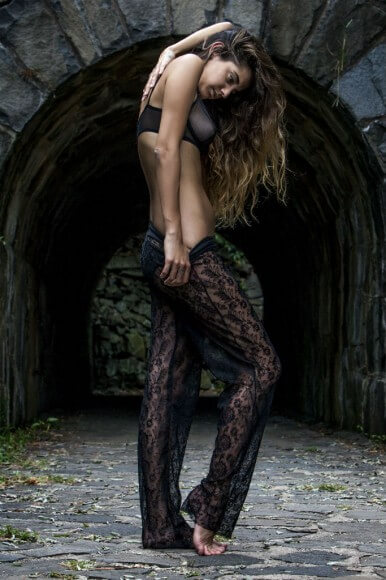Andree Ciccarelli lace pants