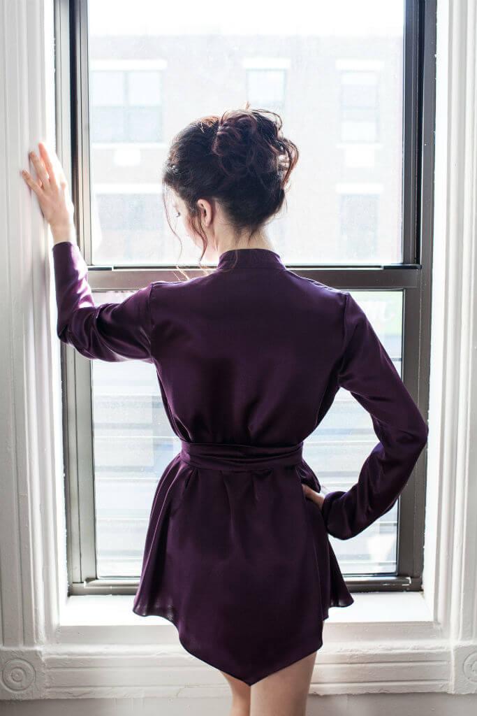Angela Friedman Musette robe back