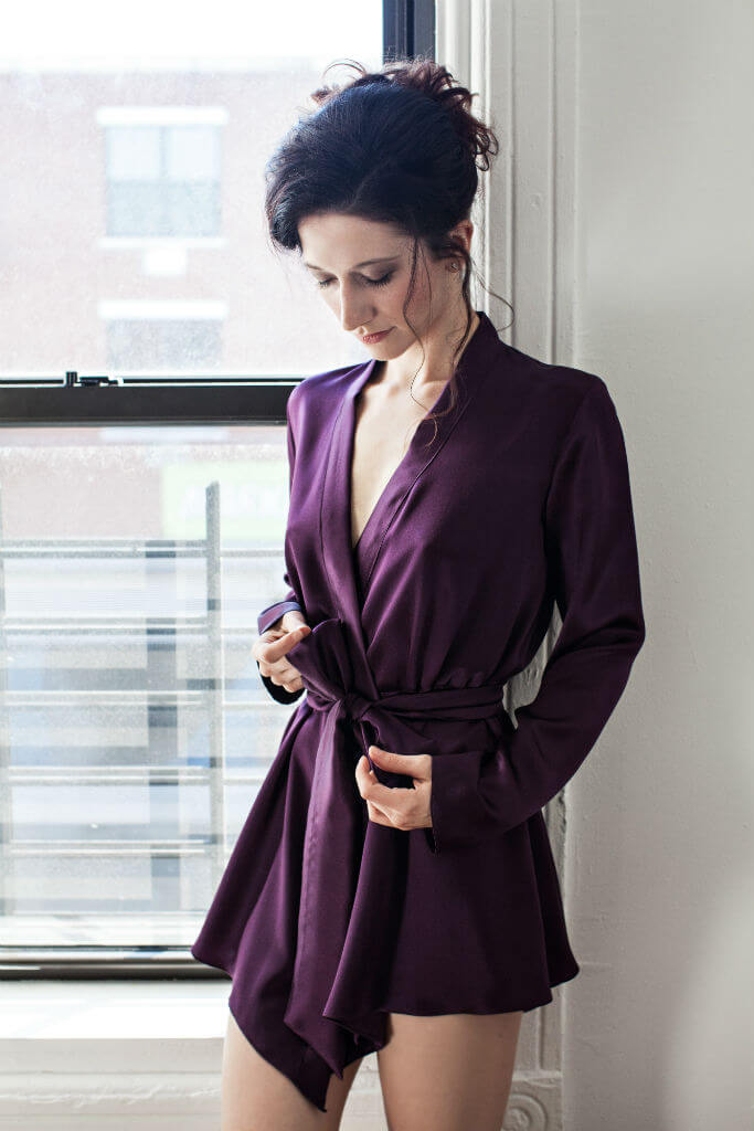 Angela Friedman Musette robe purple