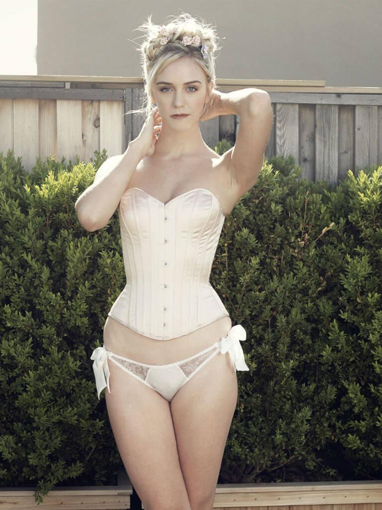Angela Friedman SS15 brigitte pink corset
