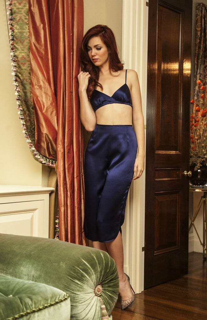 Angela Friedman navy bralet pants2