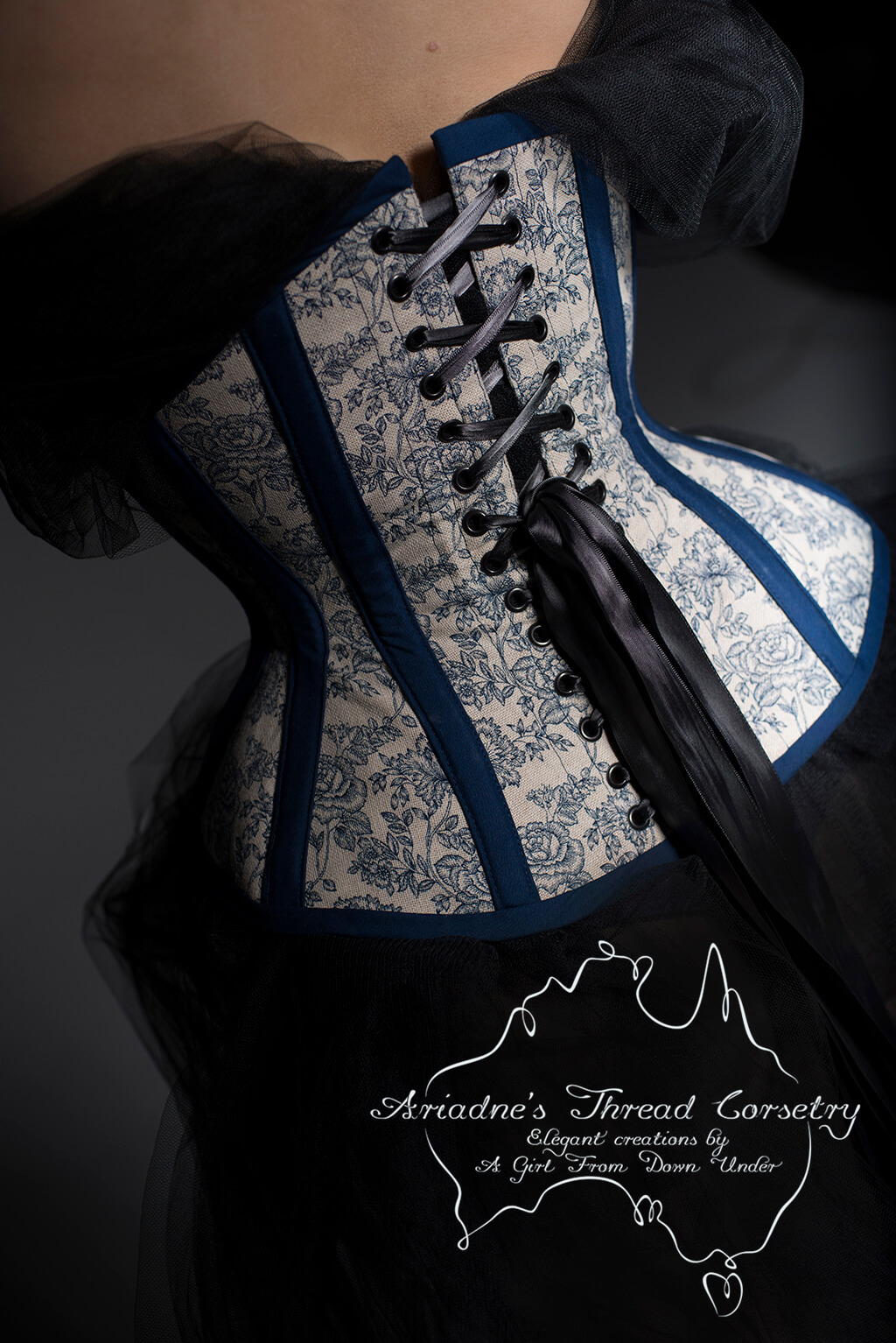 Underbust corset by Ariadne's Thread.