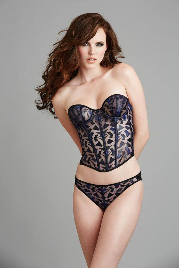 Atelier Va Bien Clarity Bustier and Knicker. Look at that exquisite pattern mirroring in the front.