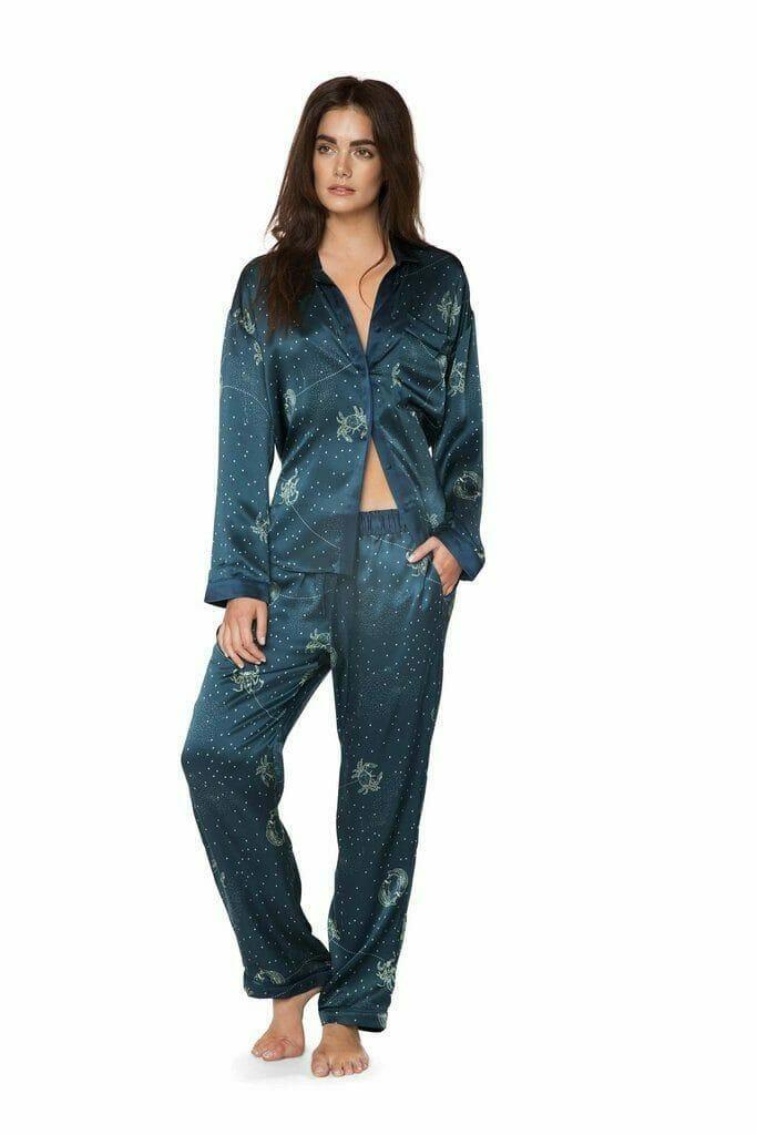 Dear Bowie Avery Astro Silk Pajamas - Starry, Celestial-Inspired Lingerie