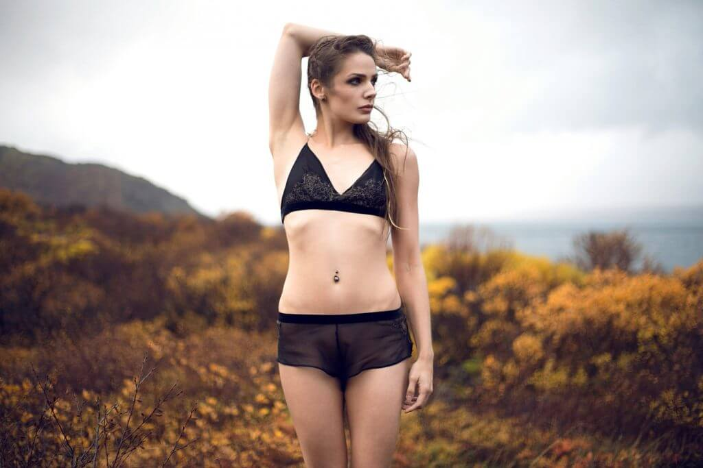 Between the Sheets Andromeda Lookbook Golden Circle Forged Black Silk Gilded Lace Bralette Tap Pants