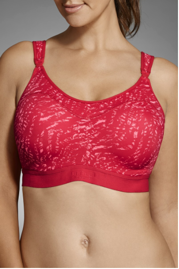 Berlei - Ultimate Performance Crop Support Factor 4 - Extreme Impact. Reduces breast bounce by up to 60%. designed to hold a heart rate monitor and MP3 player. Moisture wicking padded shoulder straps, underbust and body band minimises irritation in high rub areas