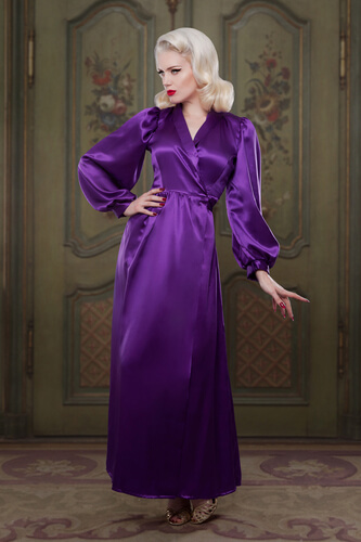 Betty Blues Loungerie Heather Silk Bettie Robe