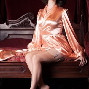 Lust Objects: Betty Blue's Loungerie Peach 'Bettie' Robe