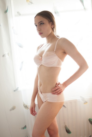 Boux Avenue's 'Henrietta' sparkle balconette bra and shorts. Photo by Karolina Laskowska