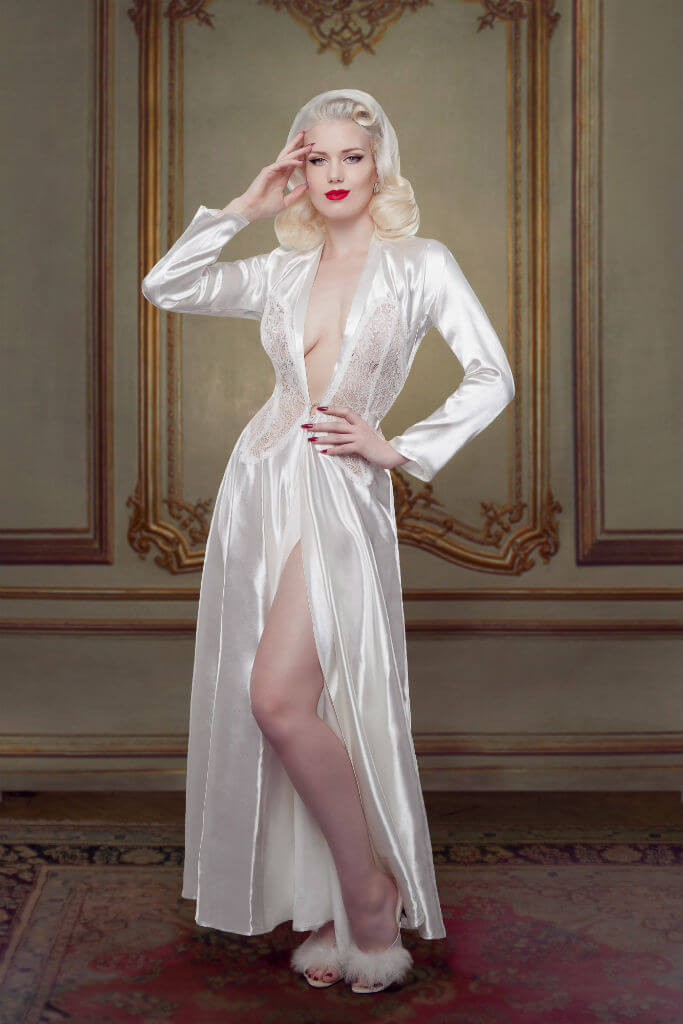 Bridal Nell Robe Front Betty Blues Loungerie HR