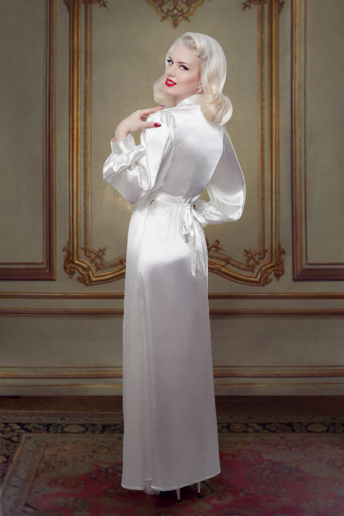 Bridal Silk Bettie Robe Back Betty Blues Loungerie HR