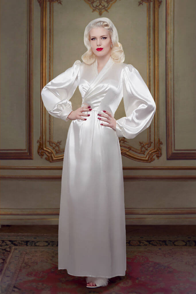 Bridal Silk Bettie Robe Betty Blues Loungerie HR