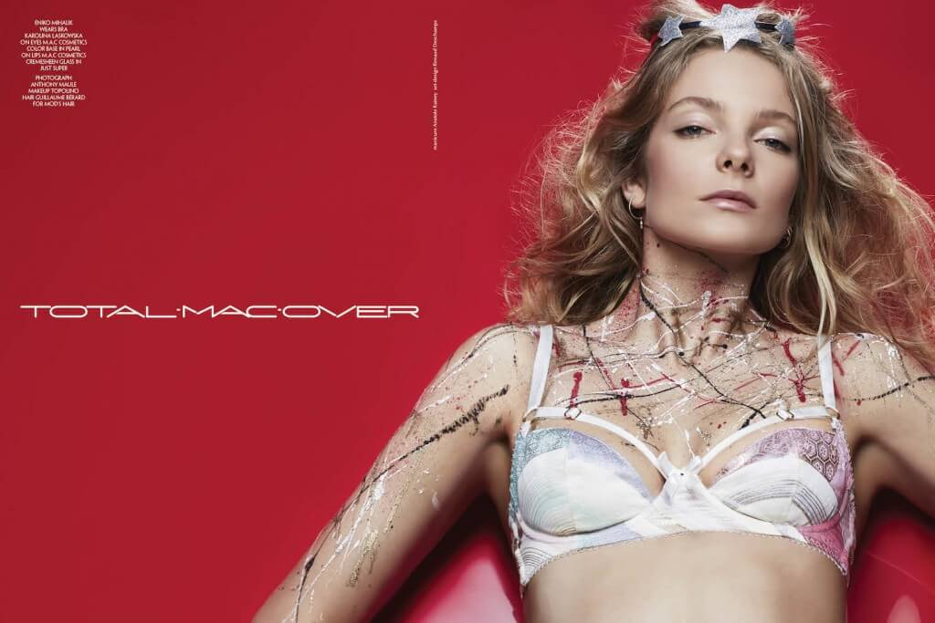 Karolina Laskowska bra in CR Fashion Book. A beautiful photo! That made no money!