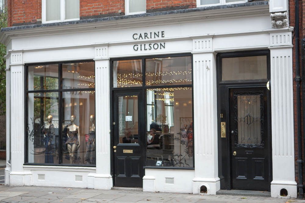 Carine Gilson shop front