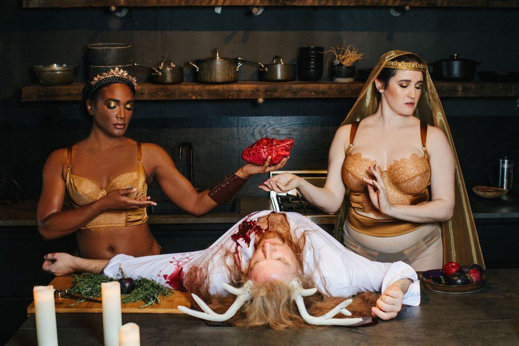 Celestial goddesses lingerie editorial