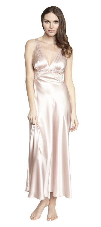 Christine Lingerie - Glamour gown silk. Shown in rose but available in other colours