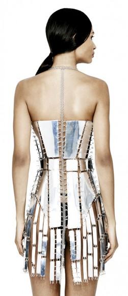 Chromat Chromed Metropolis Dress Back