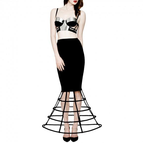 Chromat Coil Skirt