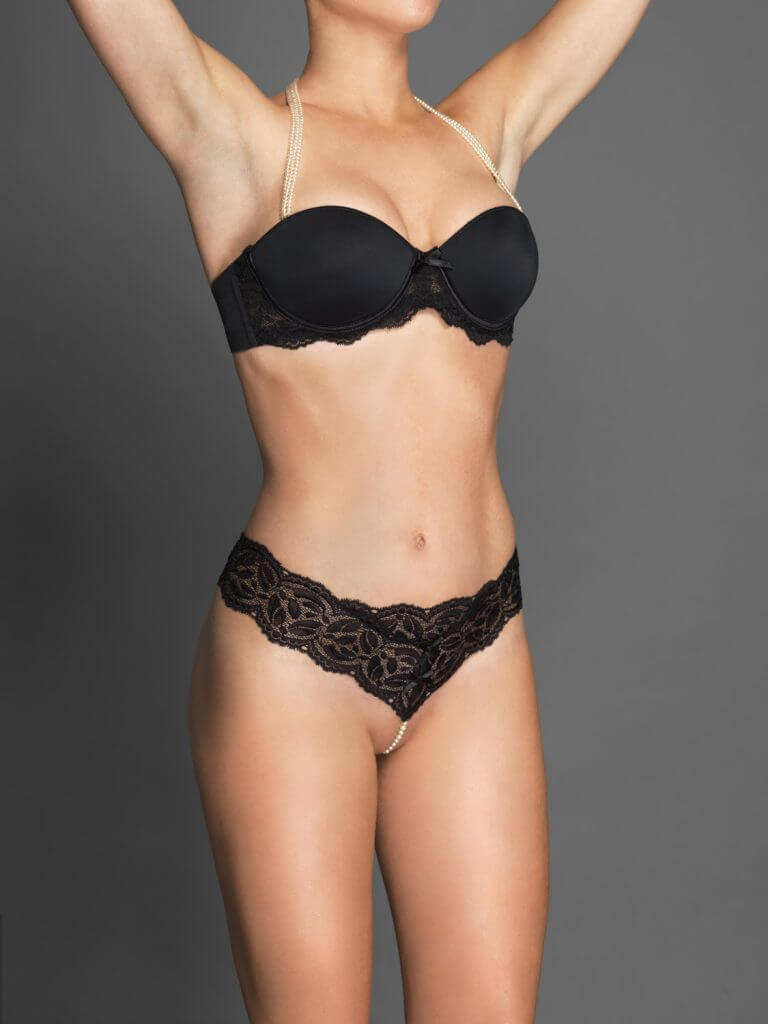 HustIer Lingerie Vibe Lace Thong W// Beads