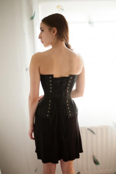 eb86177db3 Overbust with Ribbon Lacing Detail on Hip Panels by Corsets UK. Photo by  Karolina Laskowska