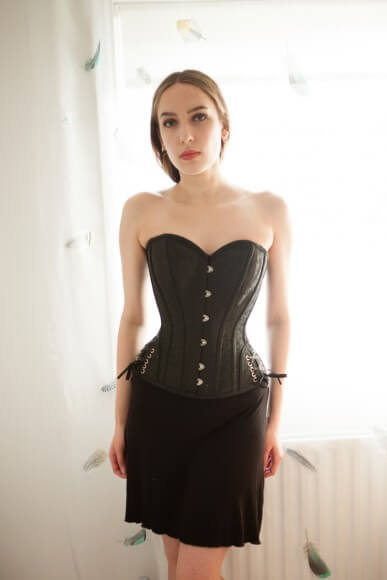 456ad907c3 Overbust with Ribbon Lacing Detail on Hip Panels by Corsets UK. Photo by  Karolina Laskowska