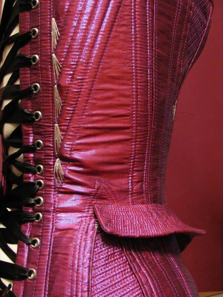 Crikey Aphrodite flossed metallic pink corset