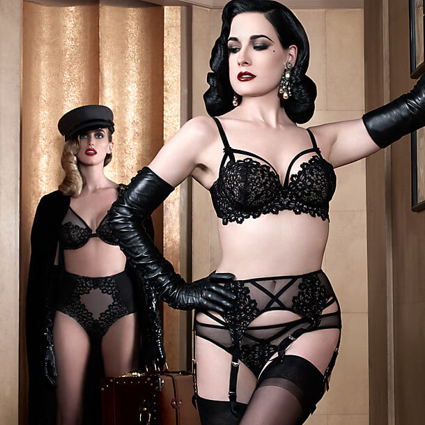 vintage glamour lingerie inspired by burlesque and musical film. Black Bedroom Furniture Sets. Home Design Ideas