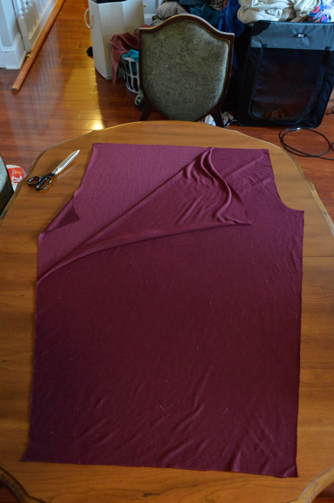 how to cut slippery fabric