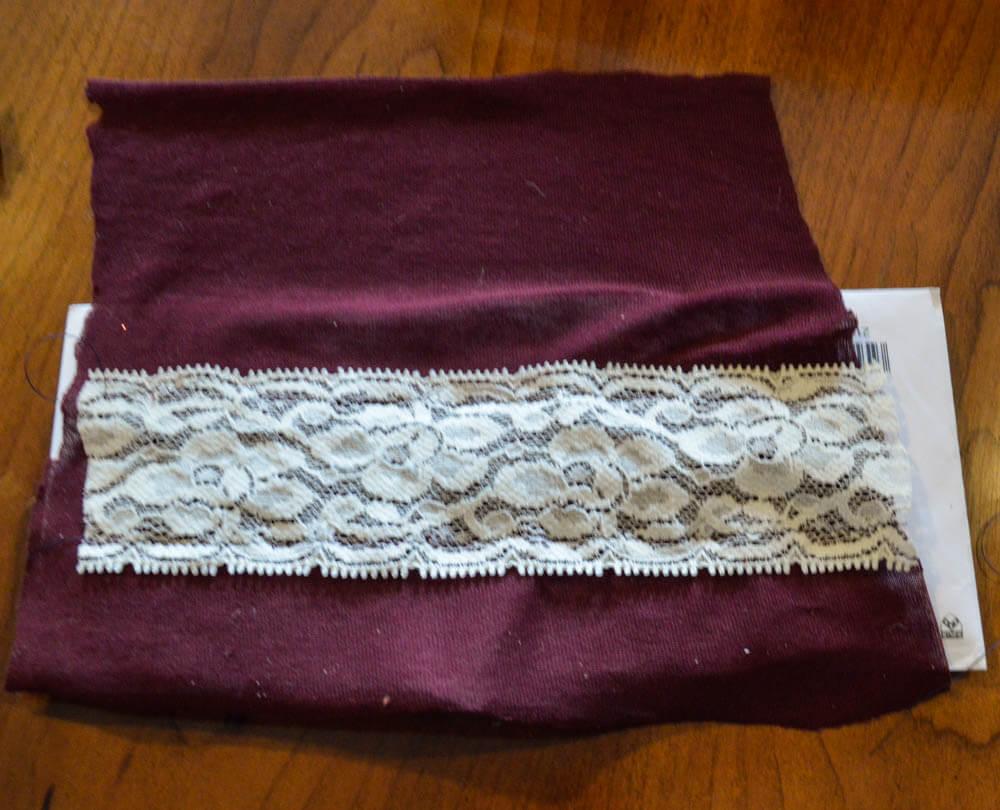 lace insert stitched