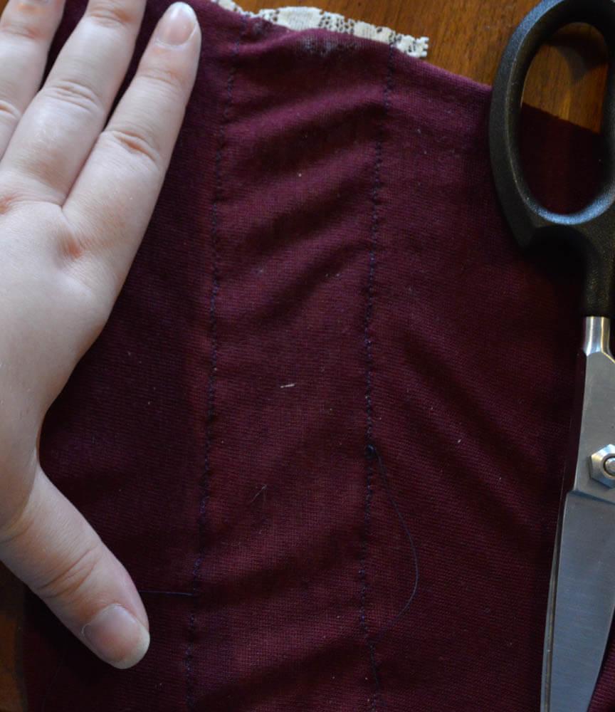 lace insert back