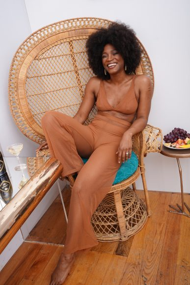 The Lingerie Addict in collaboration with Nubian Skin and The Rack Shack, photographed by Eat the Cake NYC