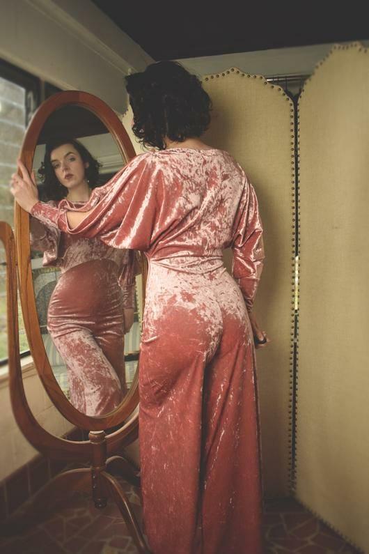 Ulalume Lingerie Colette Velvet Loungesuit
