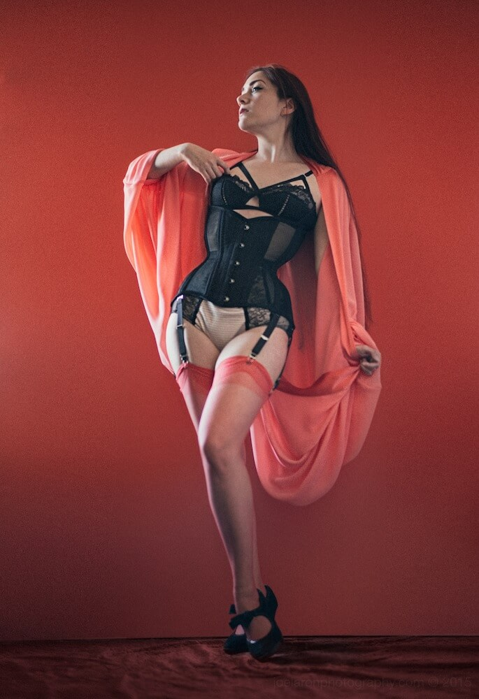"Dark Garden ""Dita"" underbust corset | Model: Victoria Dagger | Photo © Joel Aron"